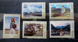 Stamps USSR Russia Soviet Union 1974 Paintings Kontchalovski Kalnins Zardarjan - $10.00