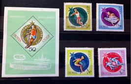 Stamps USSR Russia Soviet Union 1973 Moscow Universiade Set - $10.00
