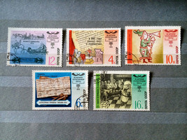 Stamps USSR Russia Soviet Union 1978 History of Postal Service - $10.00