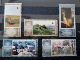 Stamps USSR Russia Soviet Union 1980 Paintings Savrasov Nevrev Flavitsky... - $10.00