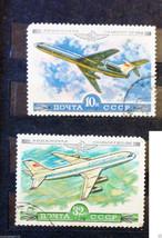 Stamps USSR Soviet Russia Union 1979 Aeroflot planes IL86 jet liner T4-154 - $10.00