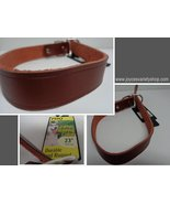 """Large Breed Leather Hunting Dog Collar NWT Adjustable 23"""" PDQ - $13.99"""