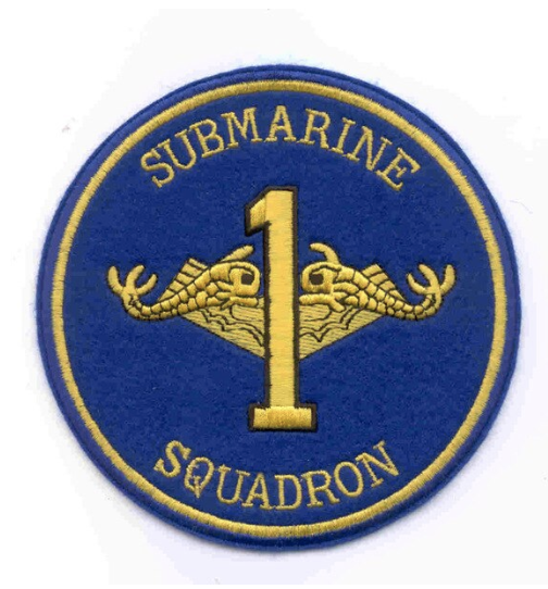 "Primary image for 5"" NAVY SUBMARINE SQUADRON ONE 1 EMBROIDERED PATCH"