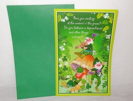 New Happy St. Patrick's Day Greeting Card Unused Leprechauns Lighthearte... - $5.64
