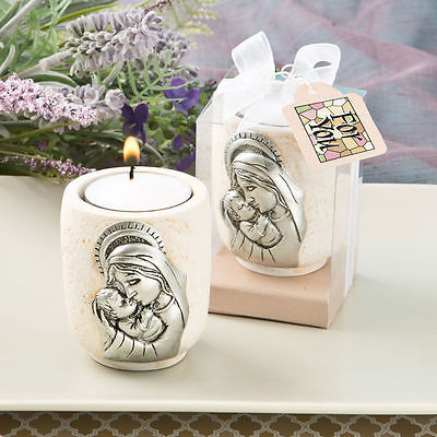 Madonna and Child Candle Tea Light Holder - One Item