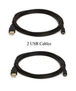 2 USB Cables for Sony DCR-SX44/L DCR-SX50 DCR-SX50E DCR-SX60 DCR-SX63  D... - $9.83