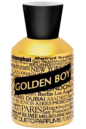 GOLDEN BOY by DUETO PARFUMS 5ml Travel Spray Perfume SUEDE THYME INCENSE