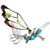 Glow in the Dark Wire Dragonfly Pot Sitter Planter Hanger Ornament Garden Decor image 2