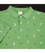 Brooks Brothers 346 Green Polo Shirt Golf Short Sleeve Sail Boat Whales ... - $15.99