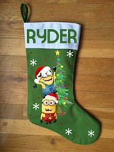 Minion Christmas Stocking - Personalized and Hand Made - $29.99
