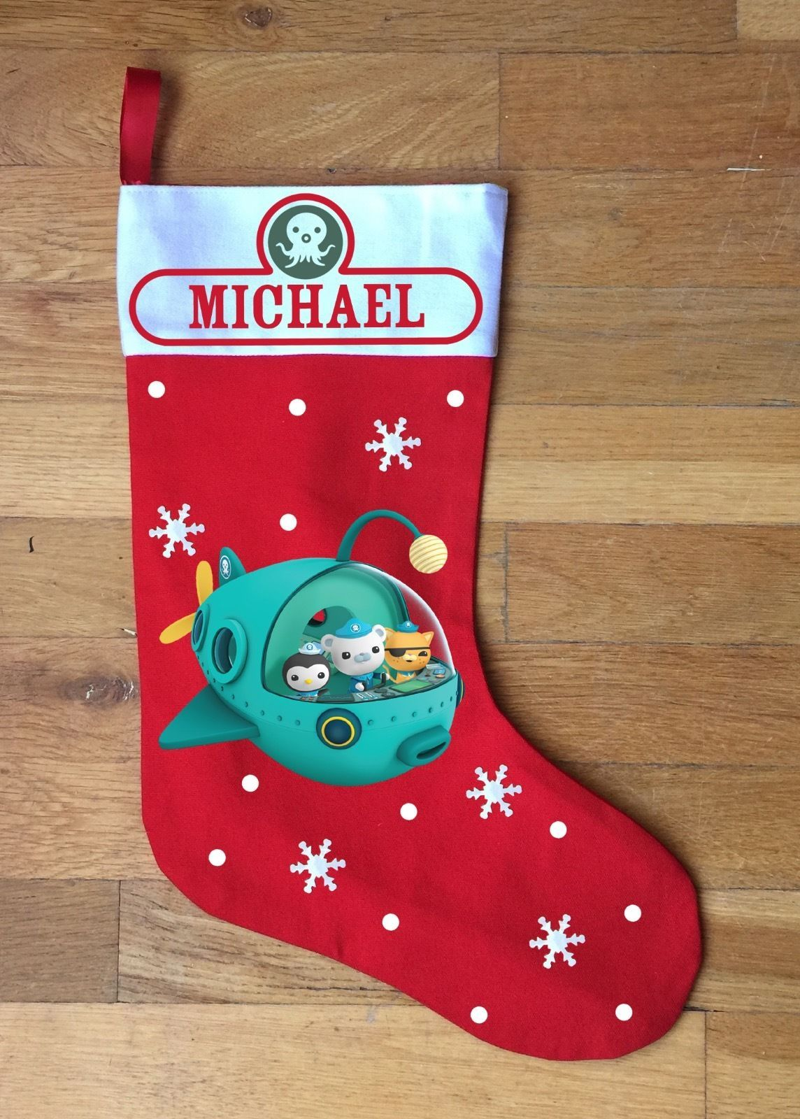 Octonauts Christmas Stocking - Personalized and Hand Made