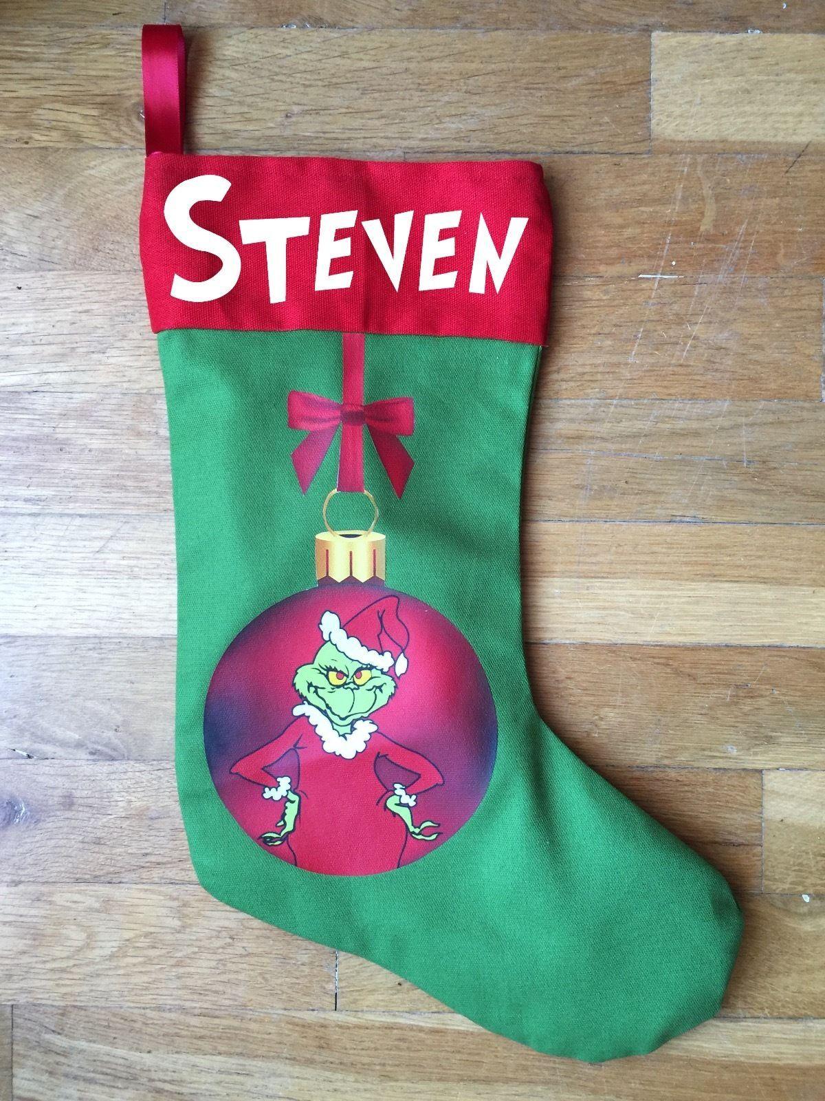Grinch Christmas Stocking - Personalized and Hand Made
