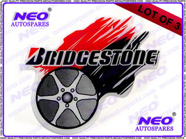 Lot Of 3 Hi Quality Bridgestone Tire Fairing Motocross Or Swingarm Decal Sticker - $19.61