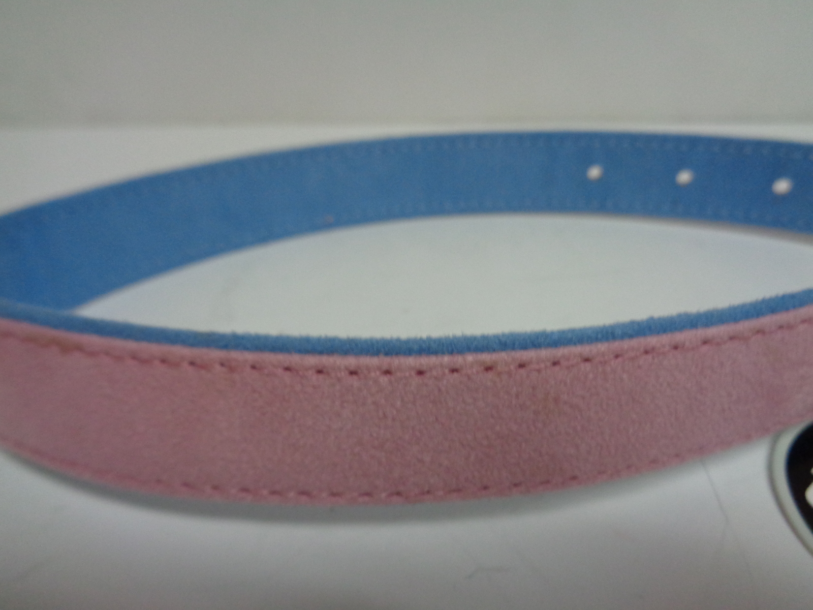 """Fancy Dog Collar NWT Adjustable 22"""" Large Size Breed Pink & Blue"""