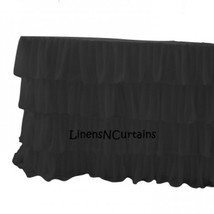 6 Feet Chiffon BLACK Ruffled Layered Table Cover - $159.99
