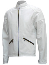Cafe Racer White Leather Jacket Mens | LJM - $199.99