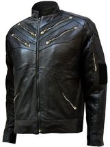 Zipper Style Men's Black Leather Jacket | LJM - $199.99