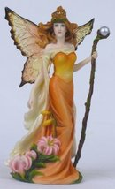 Pacific Giftware Resin Tiger Lilly Fairy Woman with Staff Statue Figurine - $21.38