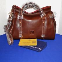Dooney & Bourke Florentine Leather Chestnut Satchel Handbag STUNNING - $349.00