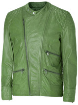 Charming Green Leather Jacket Men | LJM - $199.99