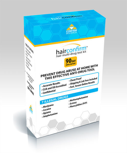 Primary image for Hair Confirm Hair Follicle Multi-Drug Testing Kit for 7 Drugs - Free Shipping!