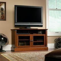 Home TV  Stand Media Center Modern Unit Furniture Entertainment Cherry Finish - $226.70