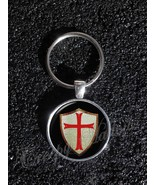 Knights Templar Shield with Red Cross Keychain - $14.00+