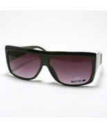 Old School MOB Style FLAT TOP SQUARED Sunglasses UNISEX BLACK - $7.87