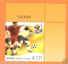 CYPRUS 2010 1 STAMP FIFA SOCCER FOOTBALL WORLD CUP SOUTH AFRICA ,MNH, - $4.00