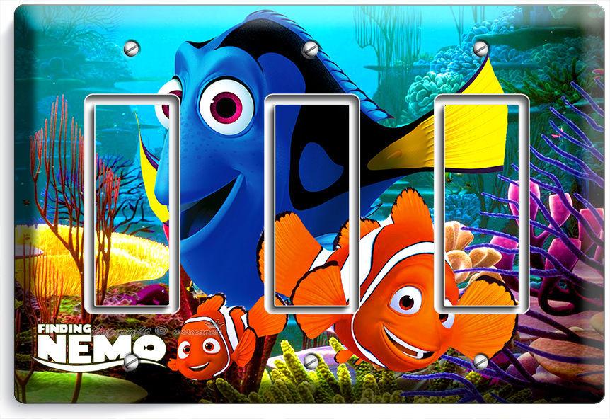 Finding nemo clown fish dory ocean sea coral reef triple for Nemo light fish