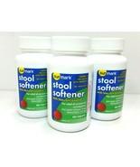 LOT OF 3 - Sunmark Stool Softener W/ Stimulant Laxative Tablets 100 Ct E... - $14.95