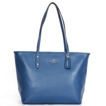 Coach Slate Crossgrain Leather Zip Top Closure/Fabric Lining Tote & Shopper - $389.99