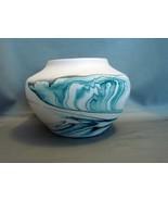 Nemadji PotteryAqua - Blue  4 Inch Swirl Vase - $16.90