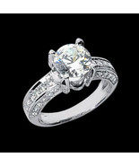 3 qt. Brillante redondo anillo de compromiso de... - $7,935.74