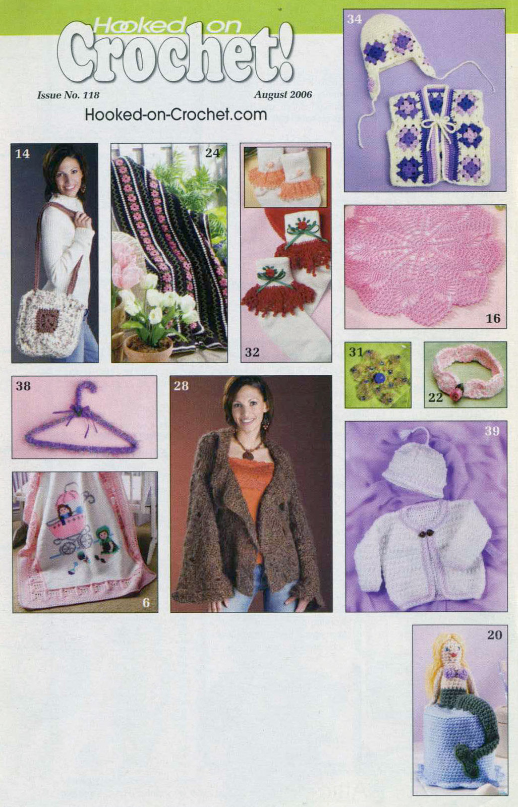 Hooked on Crochet! patterns #118; August 2006