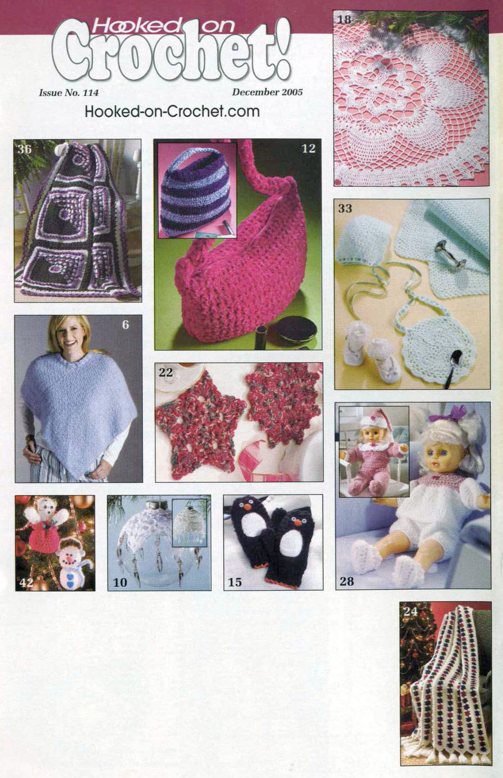 Hooked on Crochet! patterns #114; December 2005