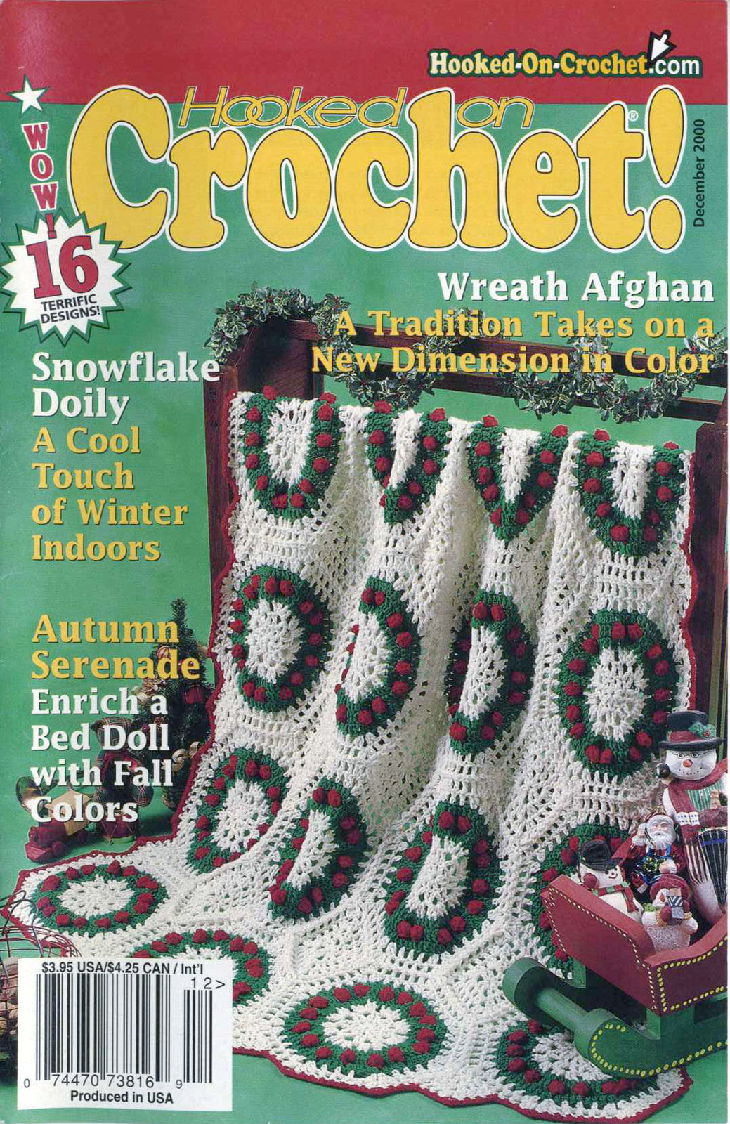 Hooked on Crochet! patterns #84; December 2000
