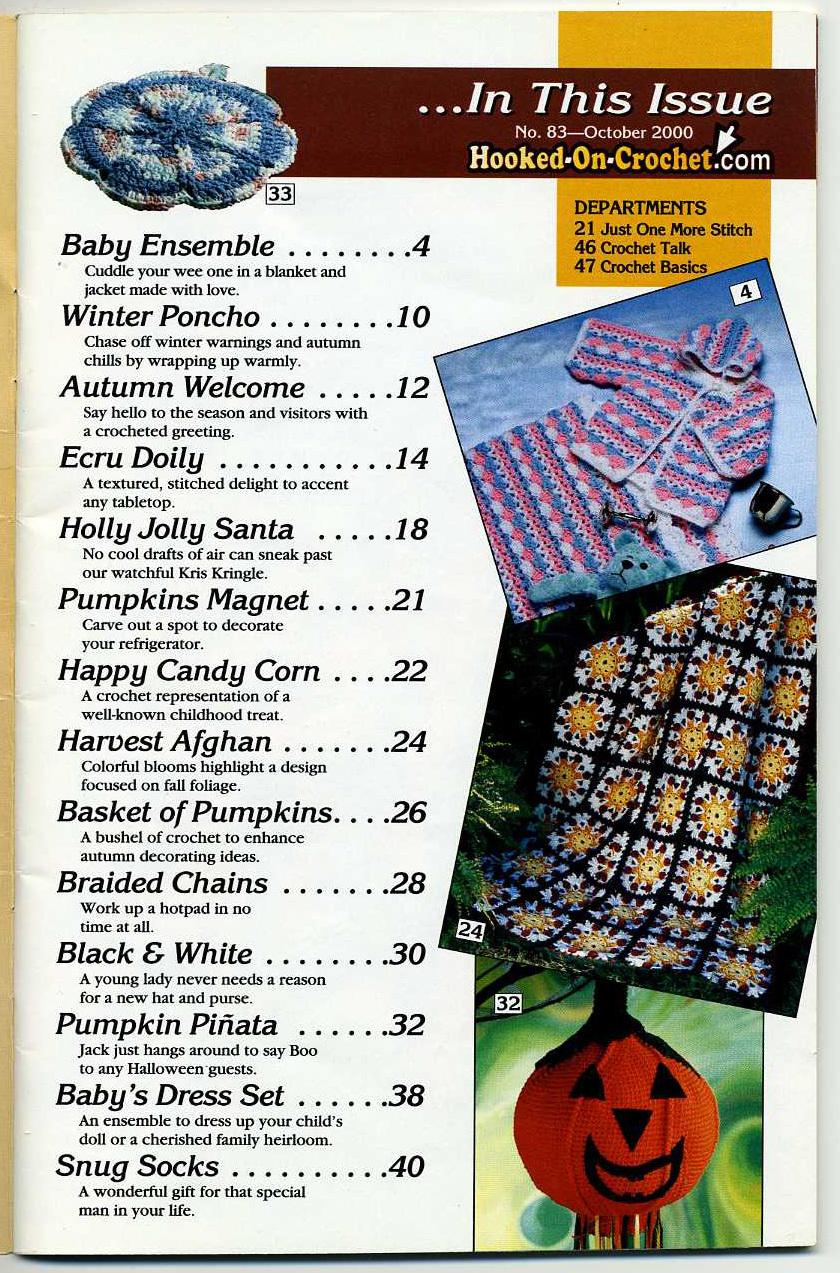 Hooked on Crochet! patterns #83; October 2000