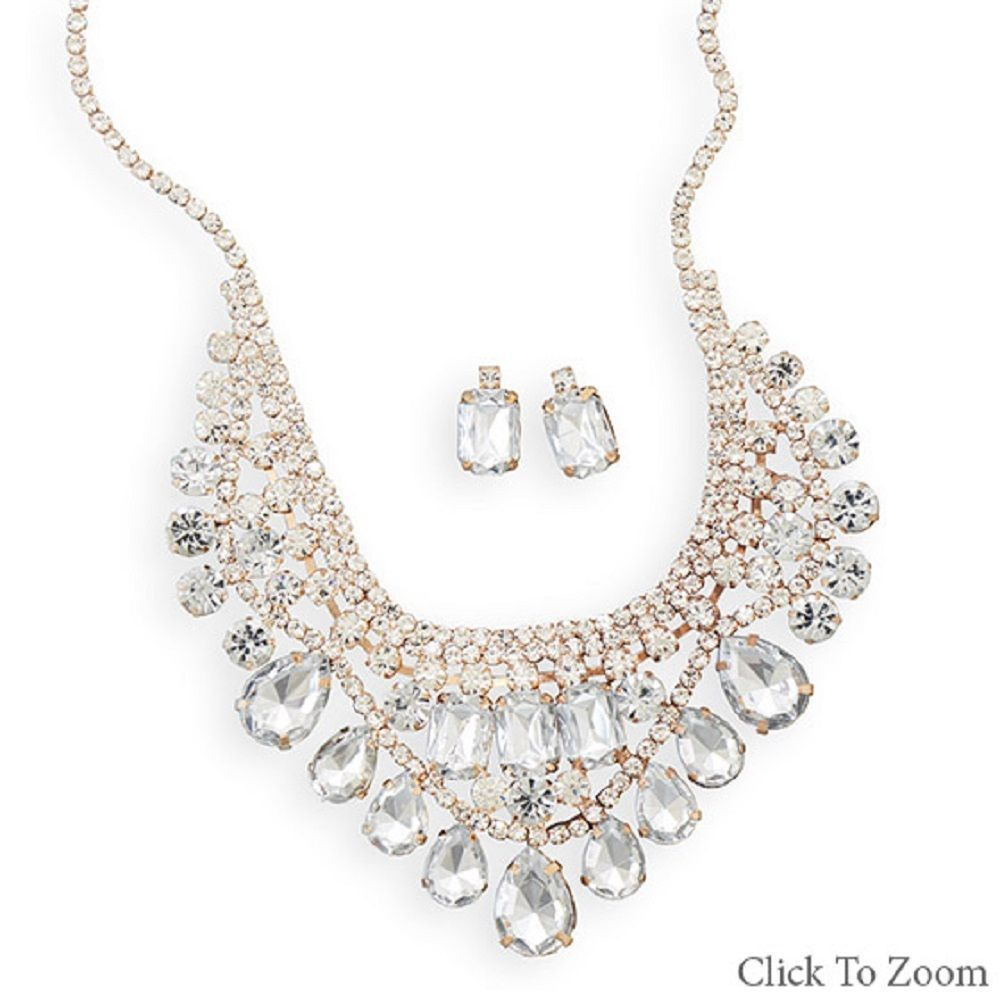 Bridal Necklace and Earring Set in choice of style  NEW