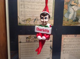 Dept 56 - Elf on the Shelf - Elf named Charlotte Christmas Ornament