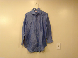 Siniscalchi Milano Men's Size XL Blue Shirt Button-Down Tailored Contrast Stitch