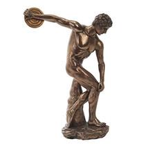 Discovolous statue museum collectible figure bronze finish - $53.99