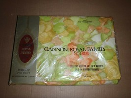 NEW NOS Vintage CANNON ROYAL FAMILY Floral  FULL Size Flat Sheet  - $27.76