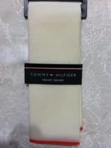 Tommy Hilfiger Hommes Neuve Beige 70% Coton 30% de Soie Poche Carré avec... - $27.52