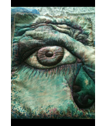 self portrait direct from the artist quilted wall hanging - $299.99