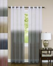 Essence Two-Tone Sheer Ombre Decorative 52 x 84 Window Curtain Single Panel - $15.79