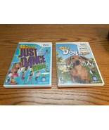Lot of 2 Wii games Just Dance KIDS and Petz Dogz 2  - $11.83
