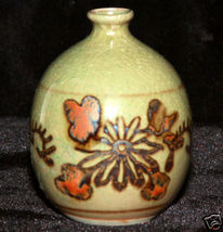 Asian Pottery Japanese Sake Bottle Pot marked J... - $14.57