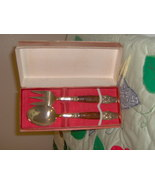 2 piece nickel plate serving set - $12.50