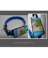 "Neon Blue Poly Coated Dog Collar NWT Medium Breed Adjustable 23"" - $8.99"